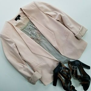 Mossimo Blush Open Blazer